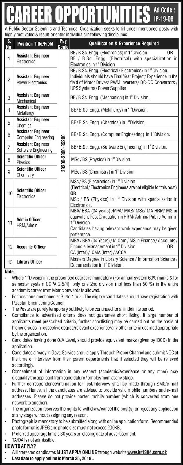 Atomic Energy Jobs March 2019 : Latest Vacancies Announced in Pakistan Atomic Energy