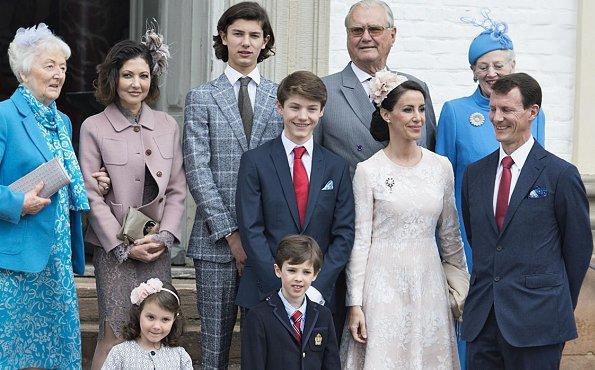 Crown Prince Frederik, Crown Princess Mary, Prince Vincent, Princess Josephine, Prince Isabella, Prince Christian, Prince Joachim, Princess Marie, Prince Henrik, Princess Athena and Countess Alexandra
