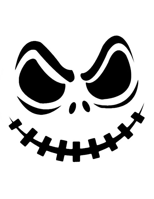 Free Printable Jack Skellington Pumpkin Carving Stencils on car on hill
