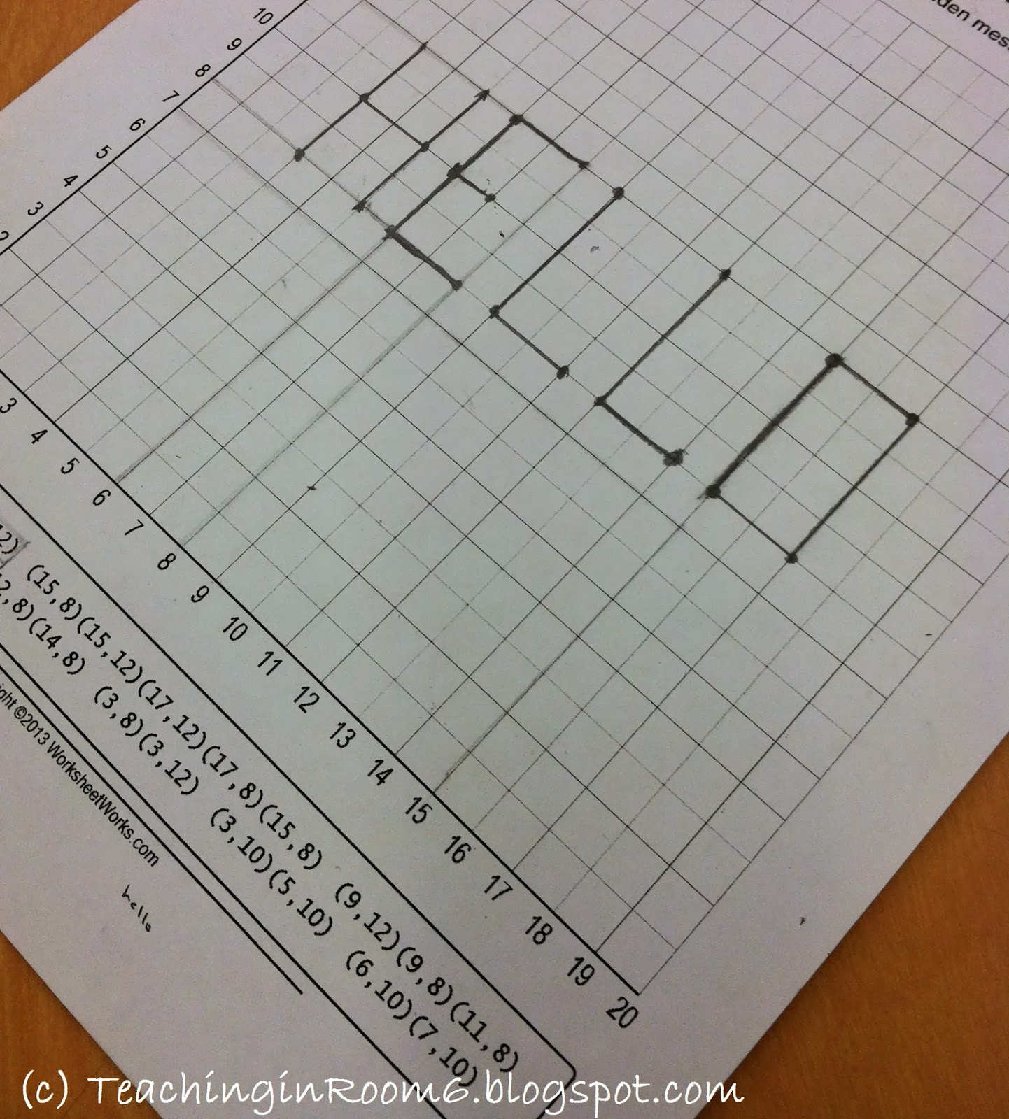 Coordinate Grid Plotting A Fun Find Teaching In Room 6