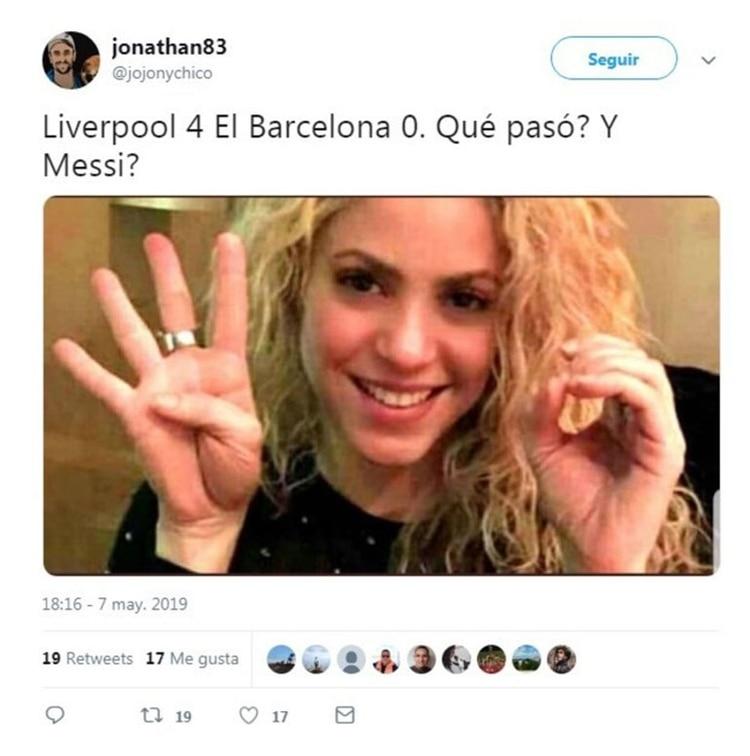 Meme Vignette Divertenti eliminazione Barcellona a Liverpool Foto 1.