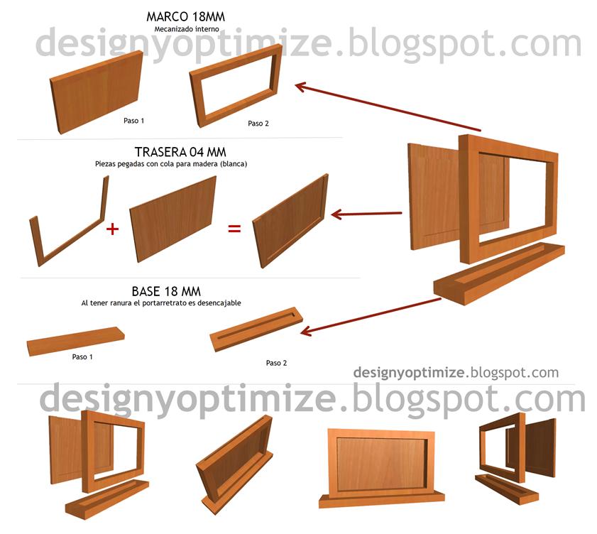 Dise o de muebles madera c mo crear un portaretrato con for Programa para disenar muebles de madera