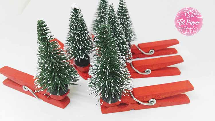 Manualidades De Navidad Pinzas De Navidad En 2 Sencillos Pasos - Manualidades-sencillas-navidad
