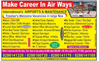 Freshers vacancy in Airways