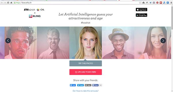 موقع سيجيبك عن هذا السؤال من خلال صورتك و نسبة جمالك