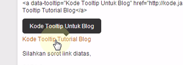 Cara Mudah Membuat Pasang Tooltip di Blog