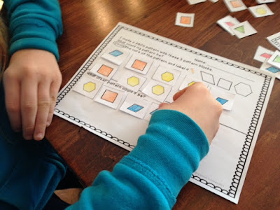 Patterning problem solving activities for kindergarten