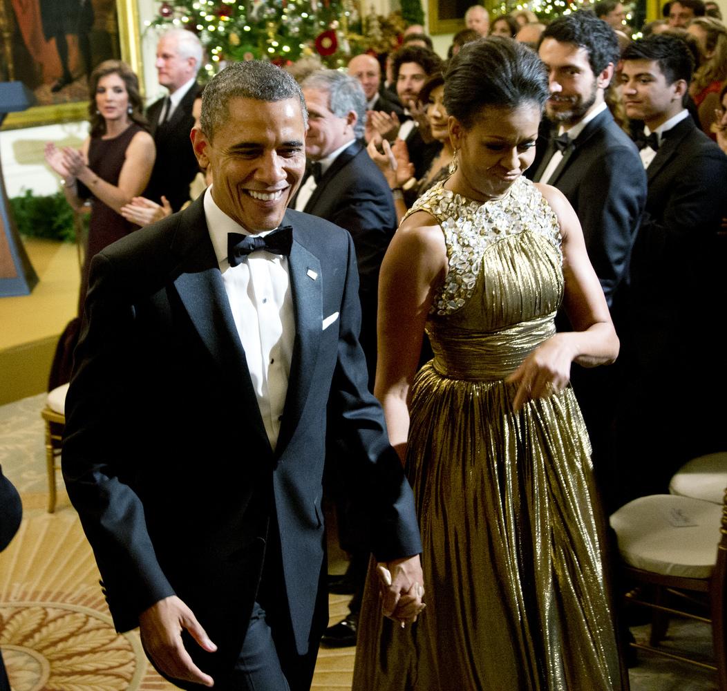 083b42857c US President Barack Obama and First Lady Michelle Obama, White House  Washington DC, Kennedy Center Honors 2012 Reception