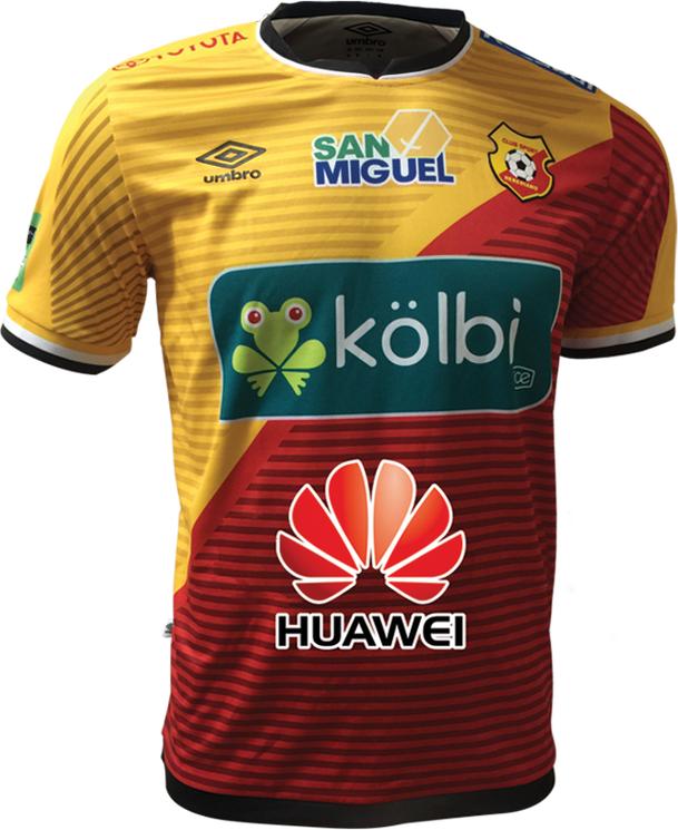 Umbro apresenta as novas camisas do Herediano - Show de Camisas 2bd36984d8aa6