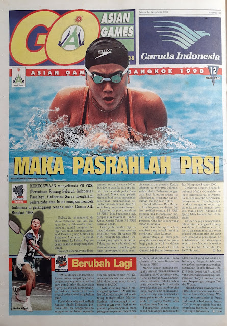 ASIAN GAMES XIII BANGKOK 1998 PRSI PASRAH