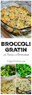 Broccoli Gratin with Swiss and Parmesan [found on KalynsKitchen.com]