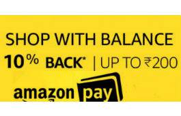 Shop and Pay via Amazon PayBack Balance to get 10% Cashback deal by rainingdeal.in