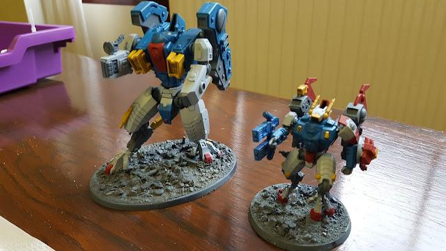 tau gundam commander riptide warhammer 40k 40000 paint scheme job