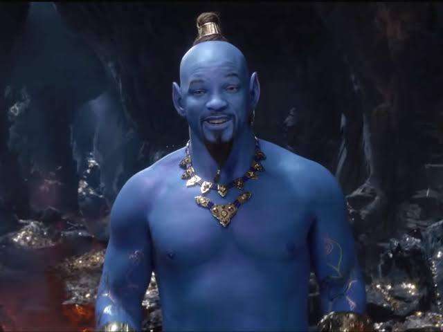 Will Smith como Gênio em cena do filme Aladdin 2019