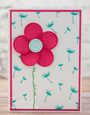 Flower made with the Balloon Celebration Stamps and matching Balloon Builder Punch from Stampin' Up! UK - buy yours here