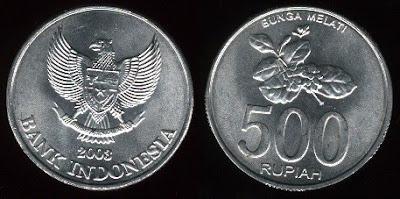 Indonesia  500 Rupiah (2003) Jasmine Flower