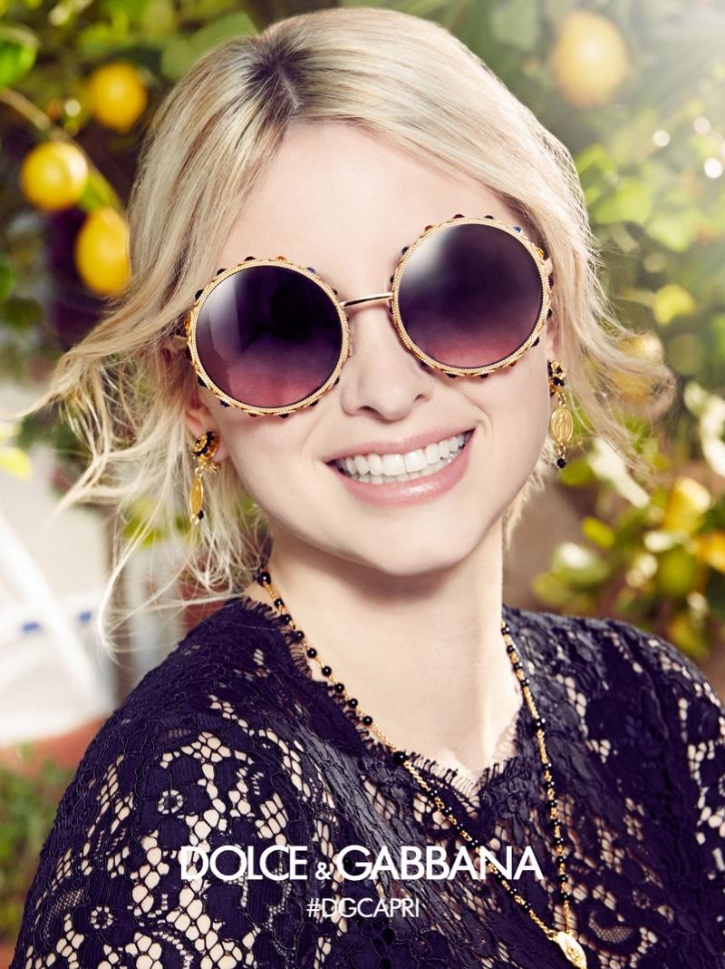 Dolce & Gabbana Eyewear Spring/Summer 2017 Campaign featuring Sonia Ben Ammar