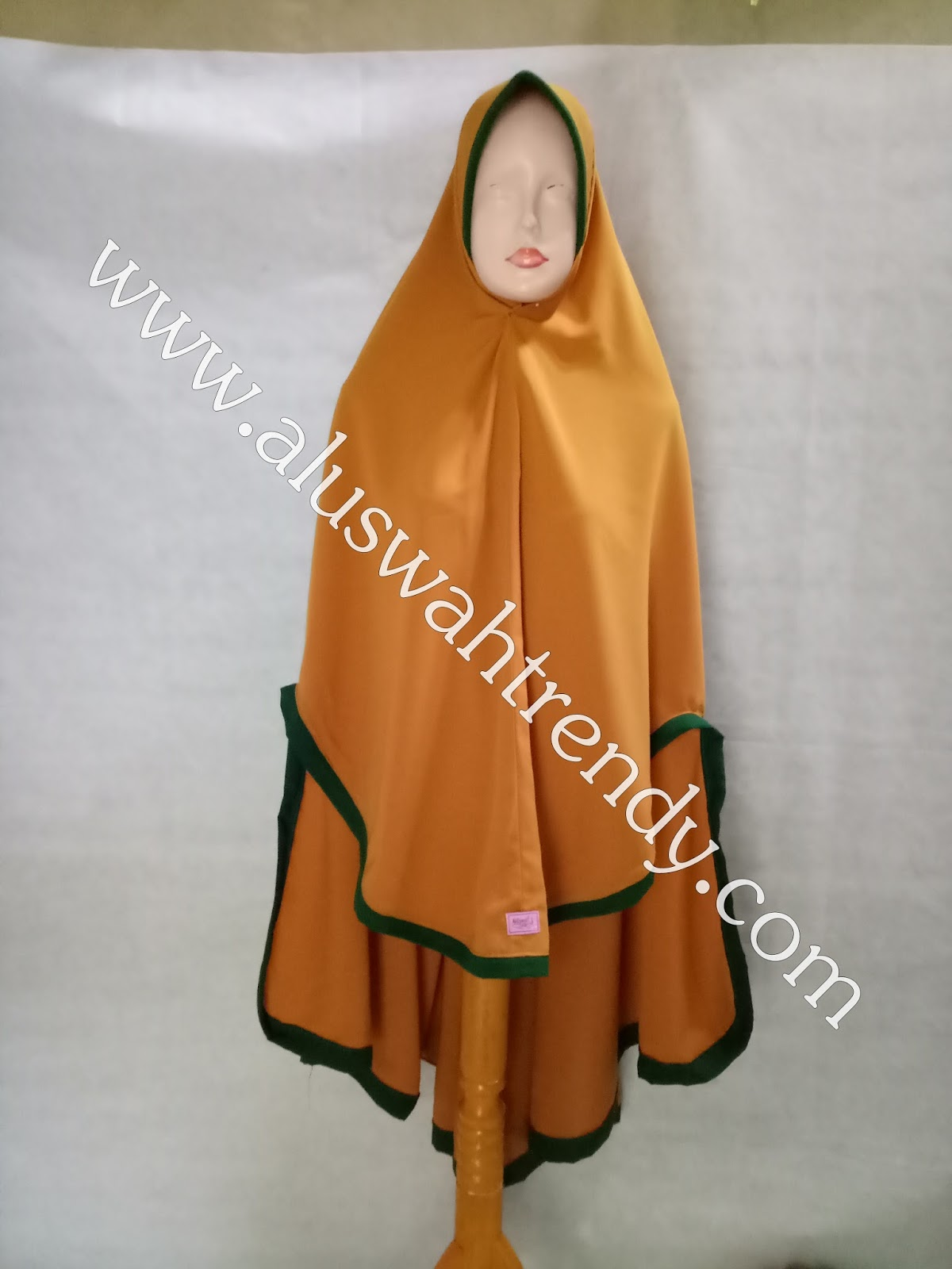 Jilbab Khimar Instan Warna Kuning Kunyit 31