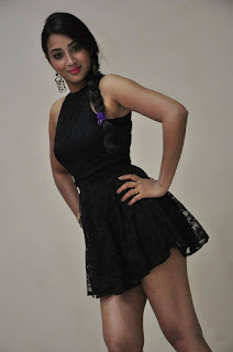Actress Bhanu Sri Stills in Black Short Dress at Dandu Movie Audio Launch  0004.jpg