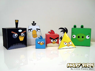Angry-Birds-Papercraft-Figurine-Design-2 Ghostbusters Firehouse Design Model on