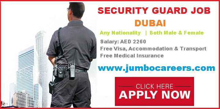 Security Guard Vacancy In Dubai With Free Visa And