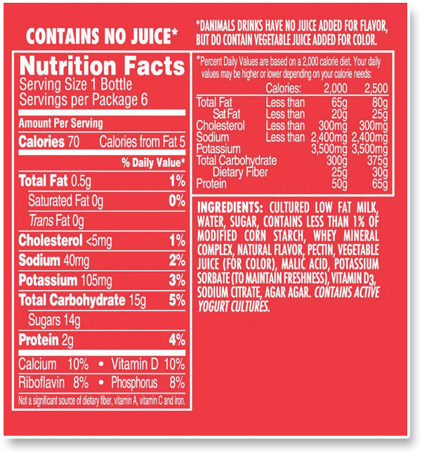 Label Orange Concentrate Juice