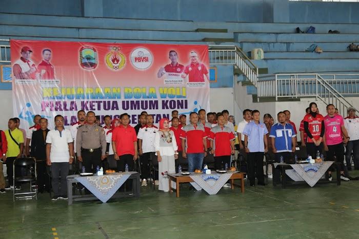 Plt Nanang Ermanto Buka Kejuaraan Bola Voli Ketua Umum KONI Lamsel