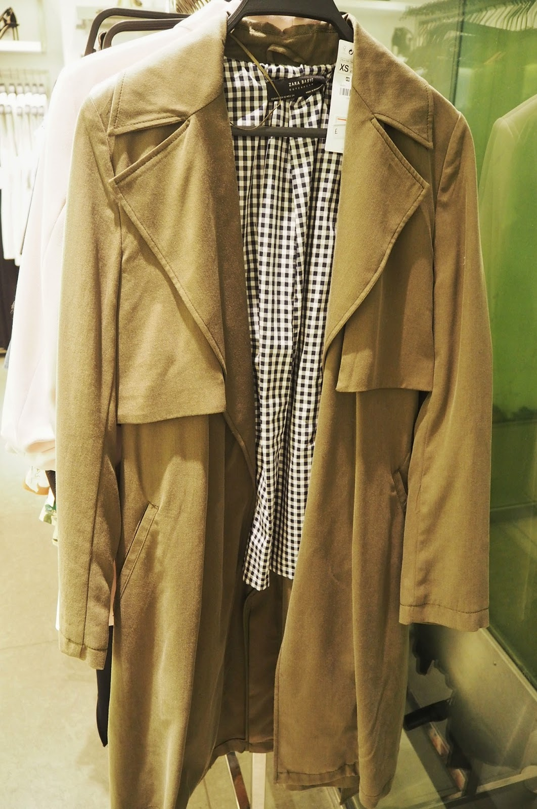 Zara - FLOWING TRENCH COAT WITH GINGHAM CHECK LINING