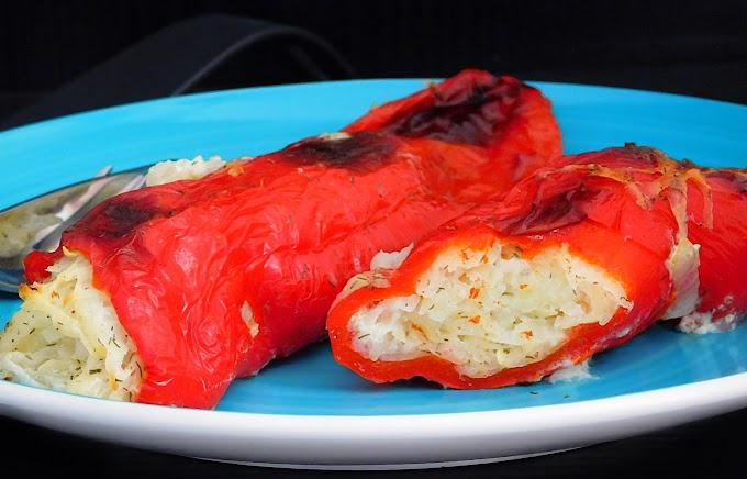 Polnjena paprika s krompirjem