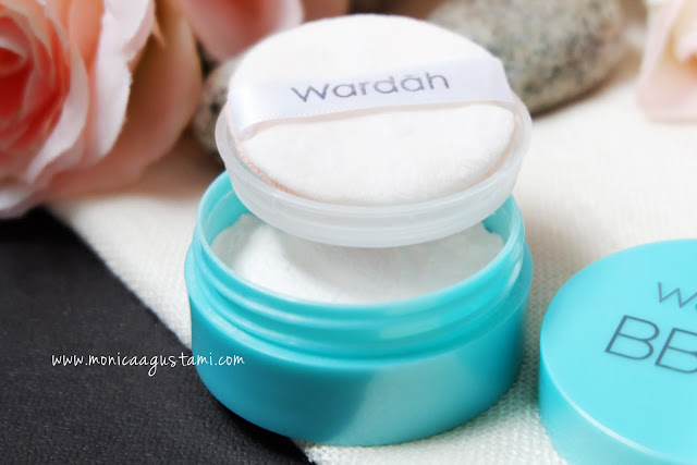 review wardah bb shine free loose powder
