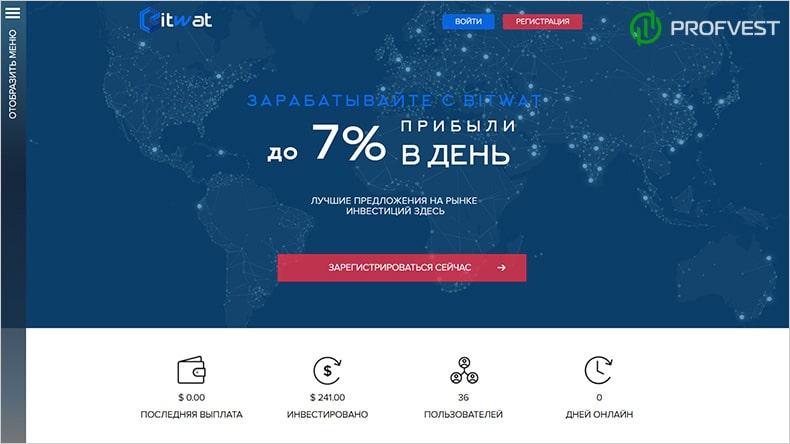 BitWat обзор и отзывы HYIP-проекта