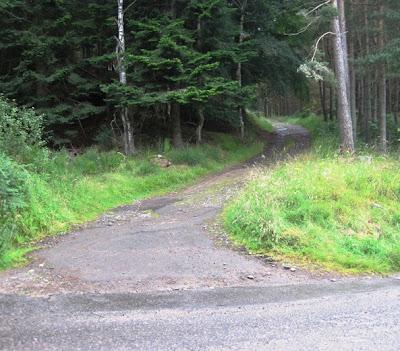 Entrance to Knock Castle, walks near Ballater