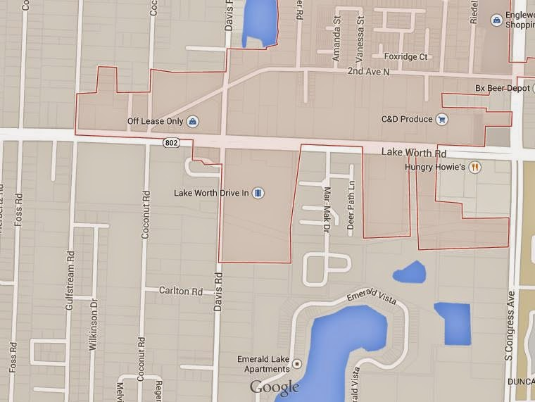 Lake Worth Fl Zip Code Map.Lake Worth City Limits Notes News Reviews Unique To City