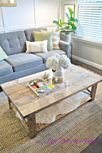 DIY X coffee table