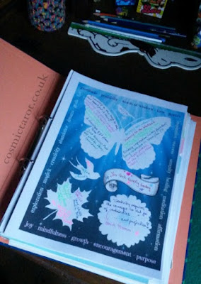 tarot journal page