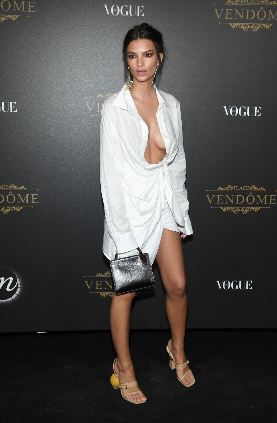 Emily Ratajkowski goes braless for the Vogue Paris Fashion ...