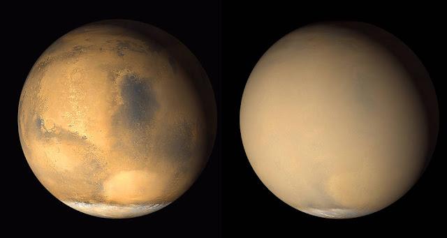 Uma nova tempestade global está para acontecer... em Marte