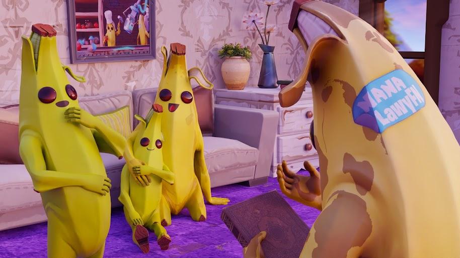 Fortnite Peely Banana Family 4k Wallpaper 144