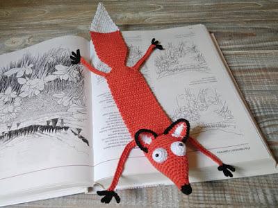 Crochet Fox Bookmark