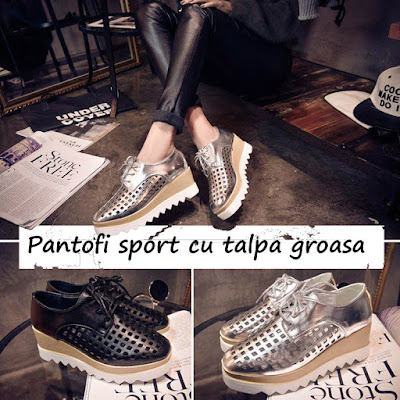 pantofi sport cu talpa groasa
