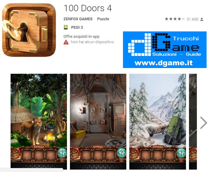 Soluzioni 100 Doors 4 di tutti i livelli | Walkthrough guide