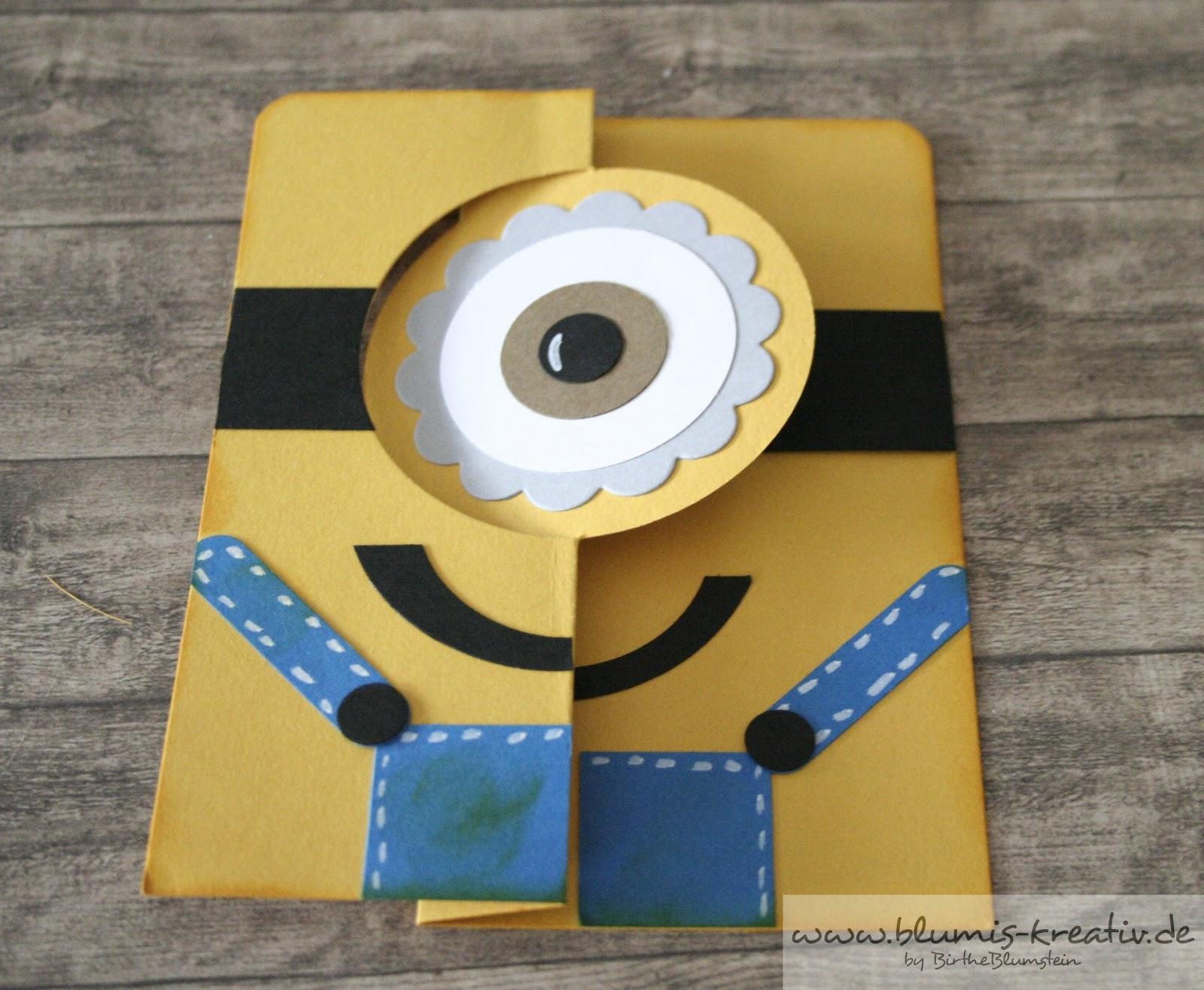 blumis kreativ blog minion flip karte. Black Bedroom Furniture Sets. Home Design Ideas