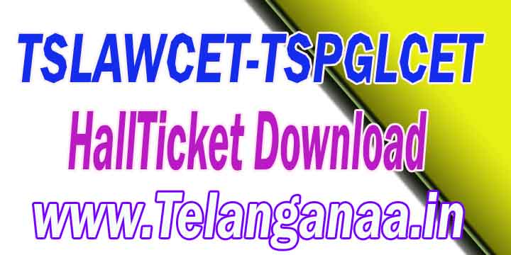 TS Telangana TSLAWCET-TSPGLCET 2018 HallTicket Download