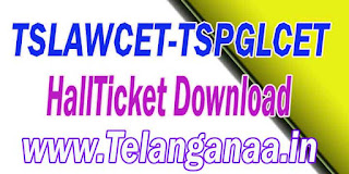 TS Telangana TSLAWCET-TSPGLCET 2017 HallTicket Download