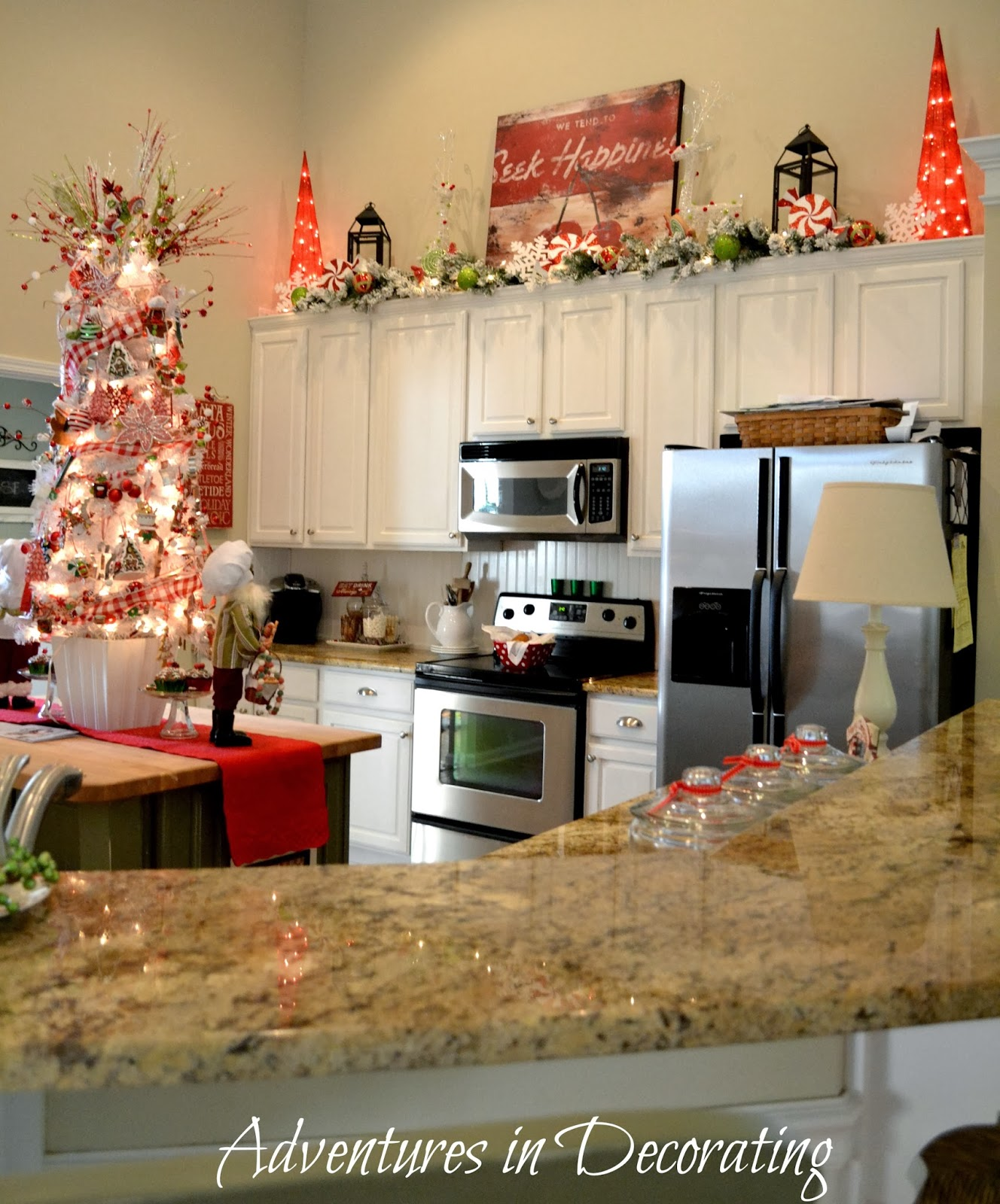 Kitchen Decorations For Above Cabinets: Adventures In Decorating: Our Christmas Great Room And