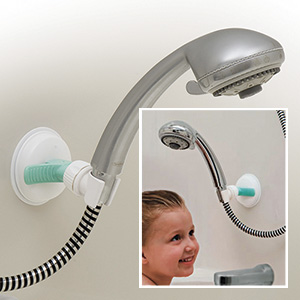 Movable Shower Head Mount. Great for kids, pets.