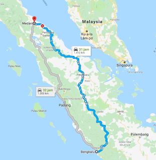 Rute Travel Medan Bengkulu