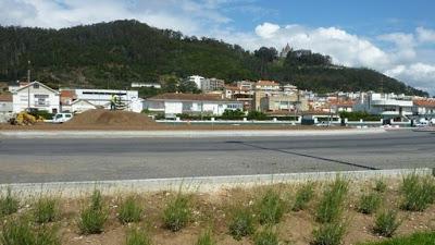 Fotografia da rotunda da Praia Norte em Viana do Castelo