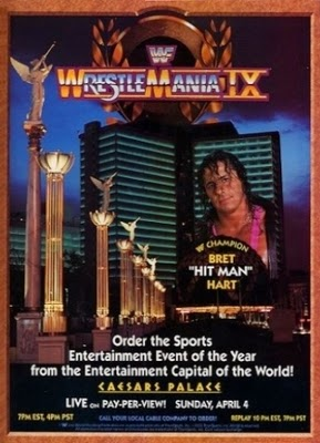 WWE / WWF WRESTLEMANIA 9: event poster