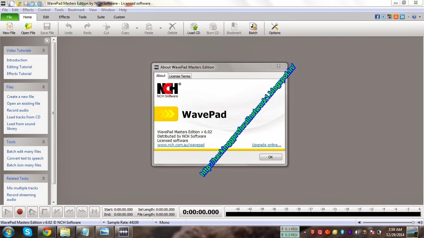 Wavepad sound editor masters edition 5 95 + crack karanpc | NCH